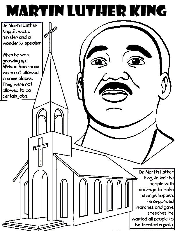 Martin Luther King Jr Coloring Pages Martin Luther King Jr Coloring