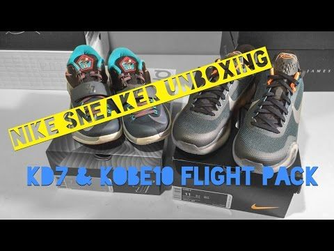 dbaf8ff8d6abb6 NIKE SNEAKER UNBOXING - KD7   KOBE 10 FLIGHT PACK - YouTube ...