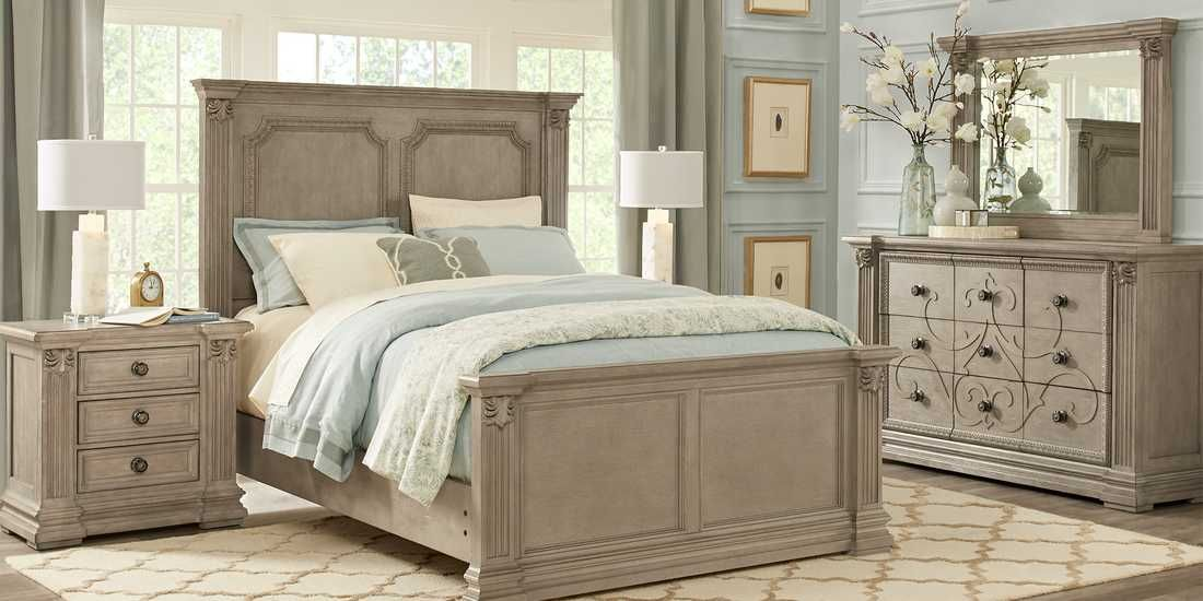 Havencrest Gray 7 Pc King Panel Bedroom Rooms To Go Bedroom Sets Queen King Bedroom Sets Bedroom Sets Furniture King
