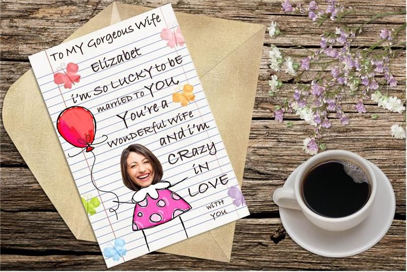 Personalized wedding anniversary card love letter to you wac