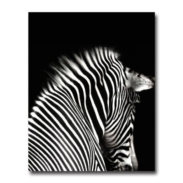 Black White Animal Zebra Wall Art Canvas Posters And Prints Minimalist  Abstract Painting Wall Picture For ...