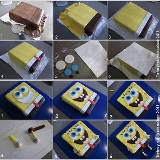 spongyabob torta képek SpongyaBob torta   Brainstorm to cakes   Ötletek tortákhoz  spongyabob torta képek