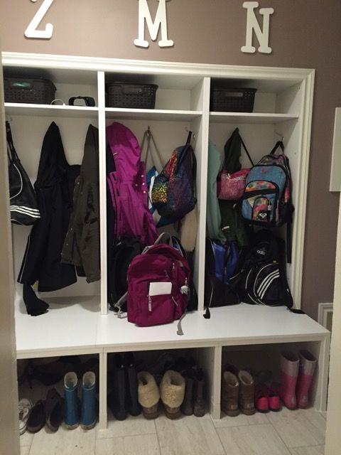 Best hack large mudroom lockers with bench ikea for Garderobe ikea hack