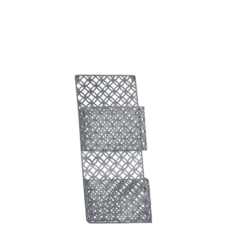 Urban trends collection utc metal organizer coated finish gray