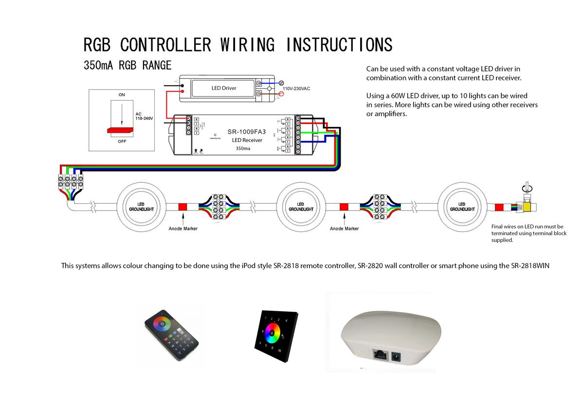 Faq How To Wire Led Ground Lights Downlights Co Uk Led Lights Wire