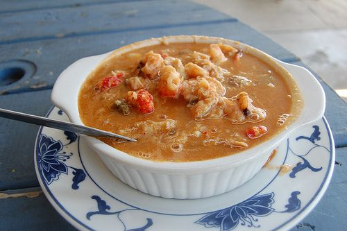 Gumbo ... at Dooky Chase restaurant on Orleans Avenue ... in New Orleans  ... one of the best in the city, it has crab, shrimp, chicken, two kinds of sausage, ham, and veal brisket
