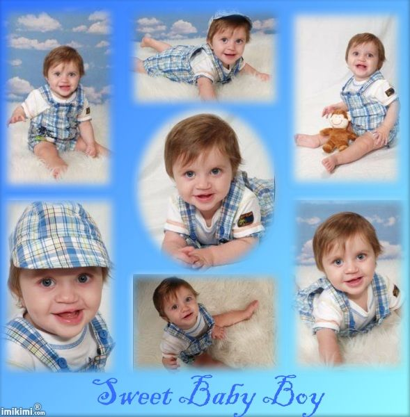 sweet baby boy collage click on it to add your own photos of your