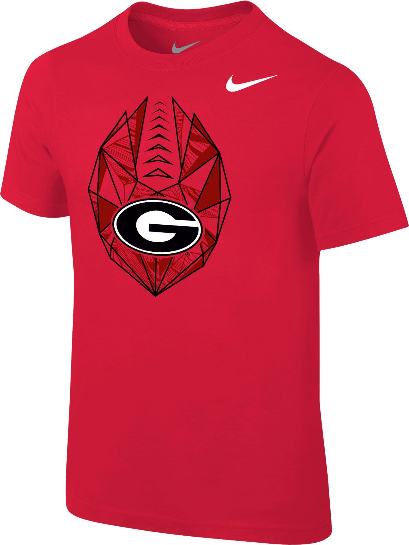 8586fdf46839 Nike Boys  Georgia Bulldogs Red Football Icon T-Shirt