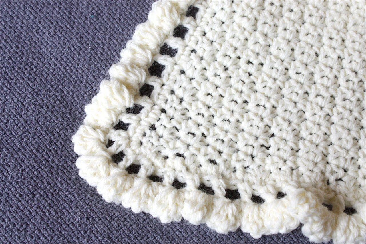 Crochet Edging around Baby Blanket | Crochet Baby Blanket Edging ...