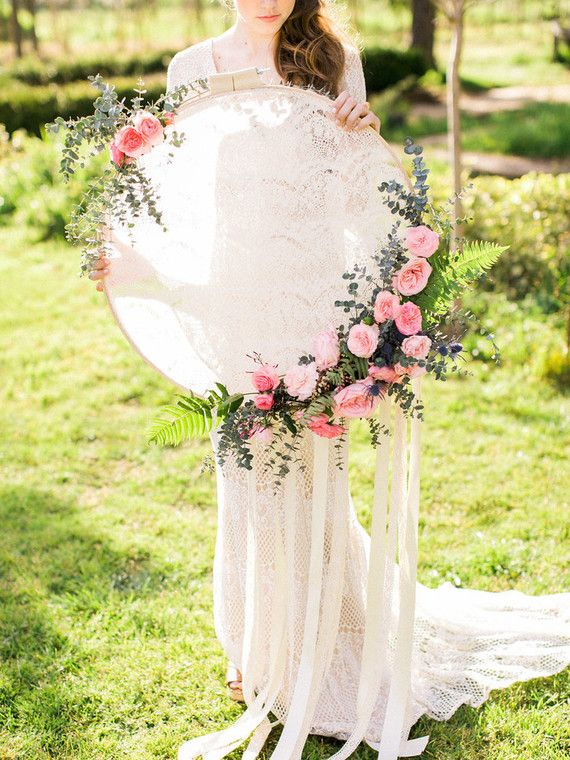 Add a beautiful floral hoop as the finishing touch to your ...