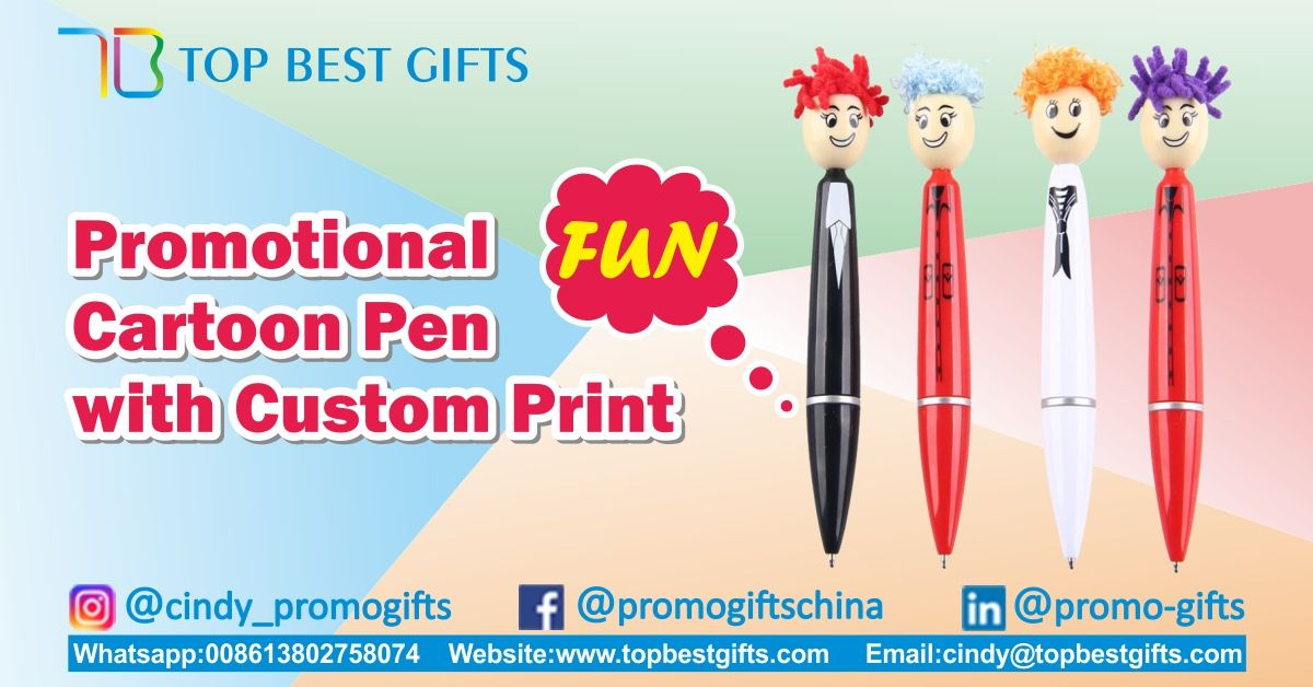 Promotional Cartoon Pen With Fun It Can Be Customized With An Imprint Of Your Company Name Logo And More To Increase Your Brand A Promotional Pens Custom Pen
