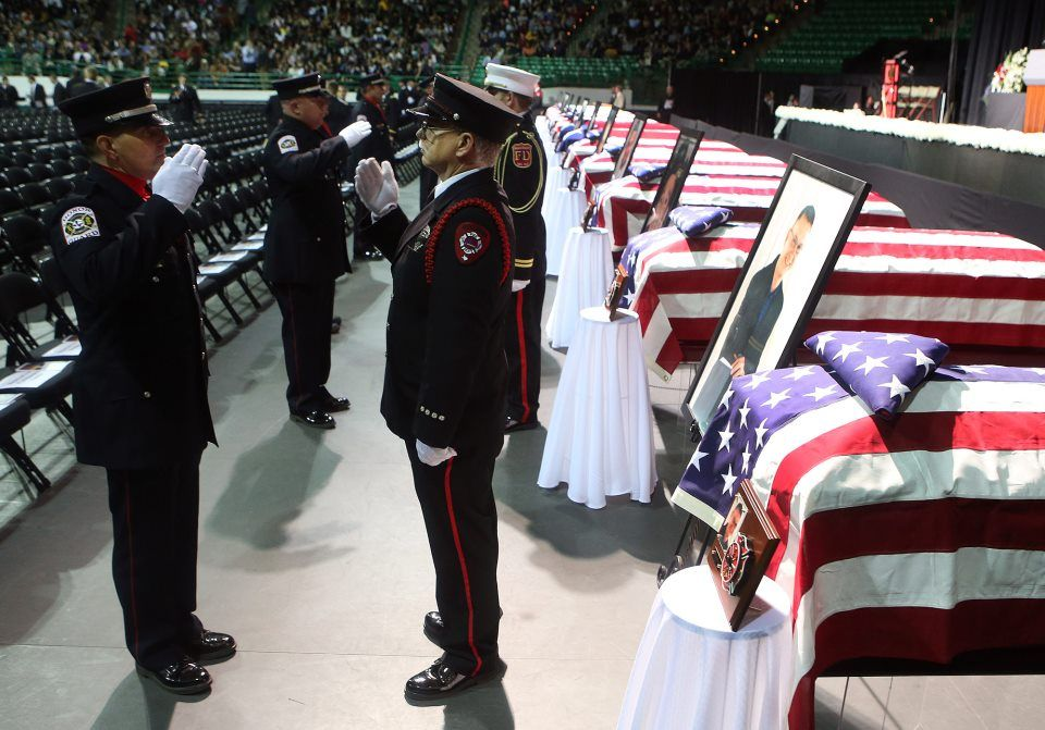 West, Texas honor guard for fallen firefighters Honor