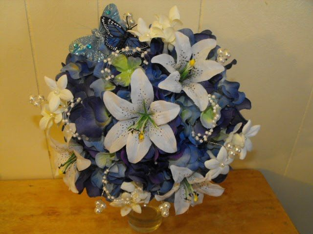 Feathers, Damask Print, And Other Designs - Silk Wedding Flowers For Less!