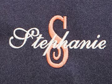 Kimono Style Style Name and Monogram Embroidered Robe 1