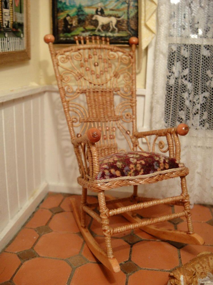 Rhea Strange IGMA fellow  Victorian Wicker Rocking Chair