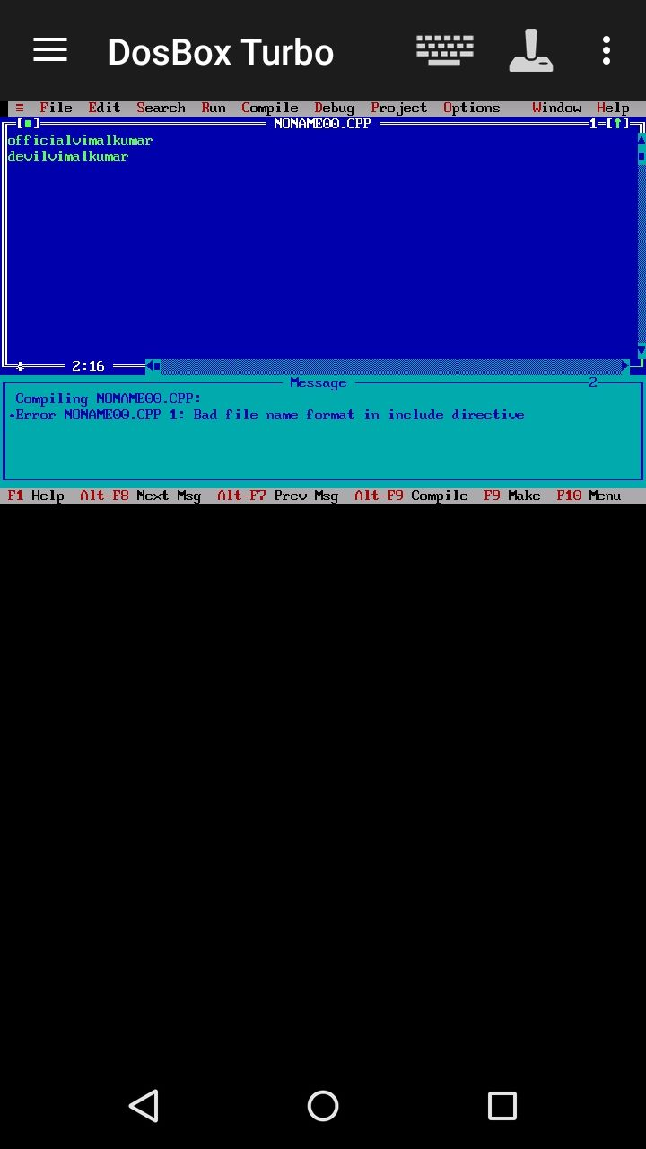 Istall turbo C++ in Android Programing software, Turbo