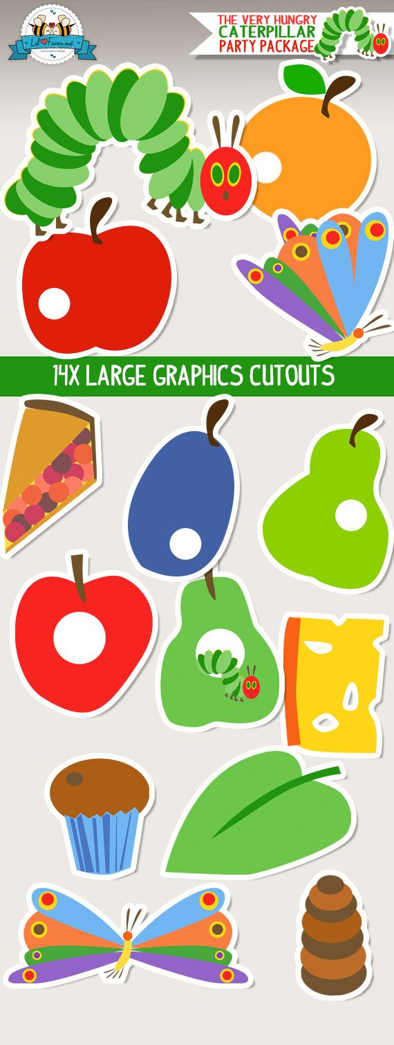 The Very Hungry Caterpillar Large Graphics Cutouts Instant Download Hungry Caterpillar Party Hungry Caterpillar Classroom Hungry Caterpillar Craft [ 1510 x 570 Pixel ]