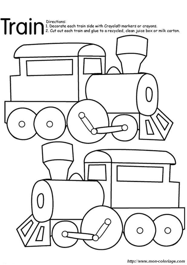 Train coloriage kinder inquiry pinterest - Train coloriage ...