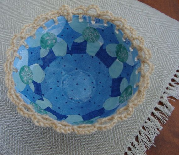Crocheted Papier Mache BowlFirst Anniversary by ContainedHappiness