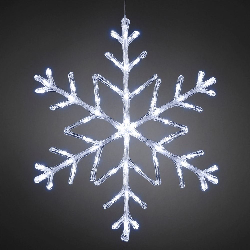 Konstsmide 4460 203 hanging white 60cm led snowflake novelty konstsmide 4460 203 hanging white 60cm led snowflake snowflake lightssnowflakesoutdoor christmaschristmas aloadofball Choice Image