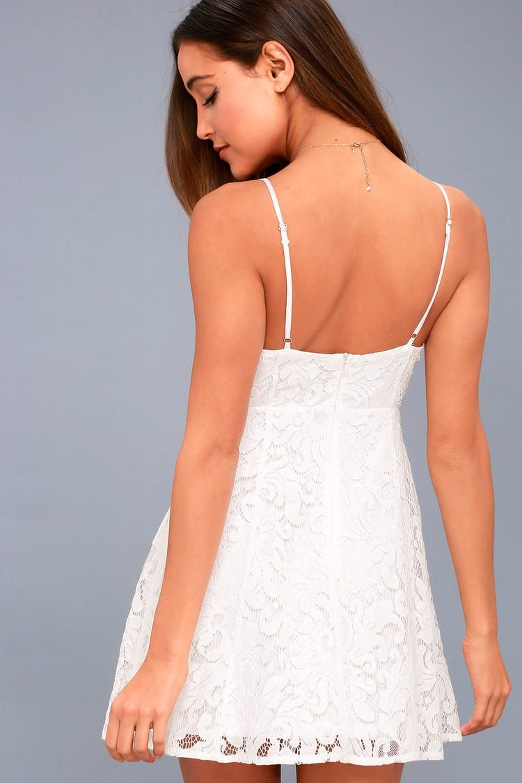 Magnolia Blossom White Lace Skater Dress White Lace Skater Dress White Lace Dress Short Long Sleeve White Dress Short [ 1125 x 750 Pixel ]