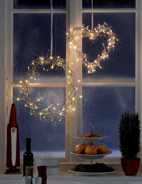 Libra Decoration Wreath Made Of Led Lights Create A Magic And Cosy Window This Winter By Christmas Window Lights Christmas Window Christmas Window Decorations