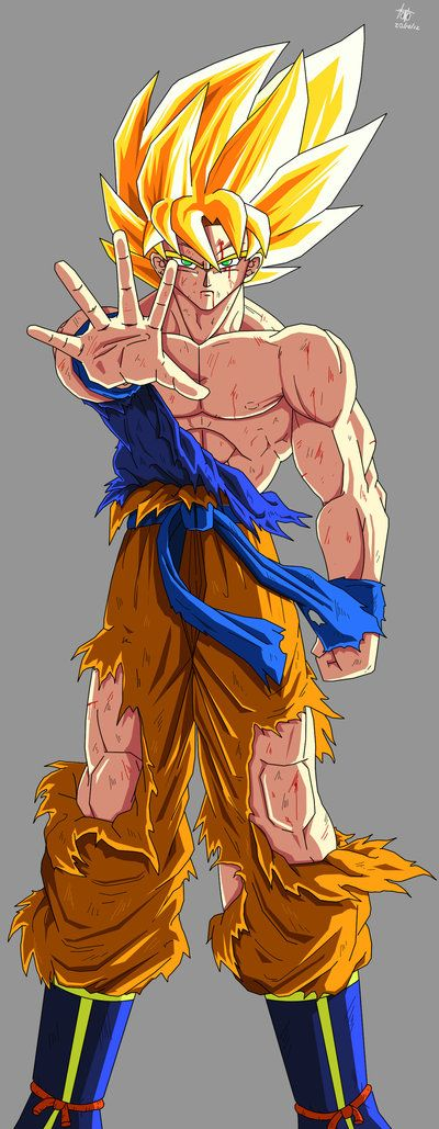 Goku ssj1 fan Art by kakarotoo666 on DeviantArt  DAGON BALL Z y