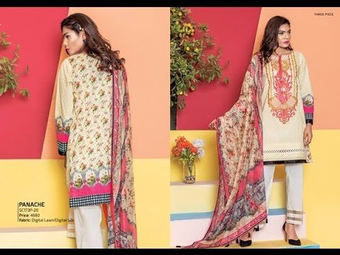 Embroidered khaadi Latest Summer Lawn Dresses Collection 2017-2018