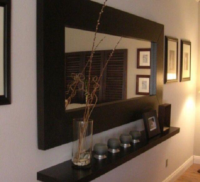 Mirror Floating Shelf Ikea Decor Home Decor Mirror Wall