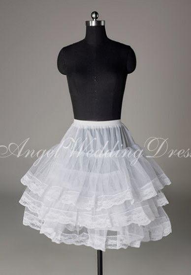 b376f6b4b Short Taffeta With Lace Wedding Dress Petticoat Style My Inspiration ...