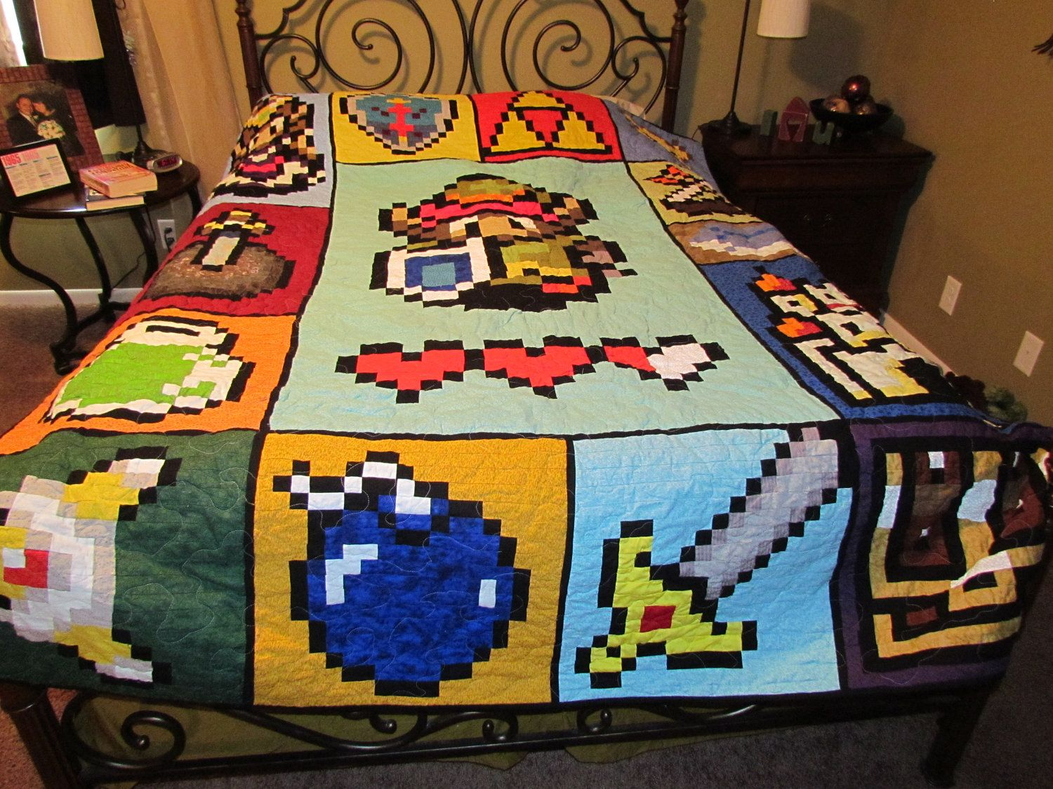 Zelda like Video Game Full Size Quilt reserved for by McFrogling ... : quilt video - Adamdwight.com
