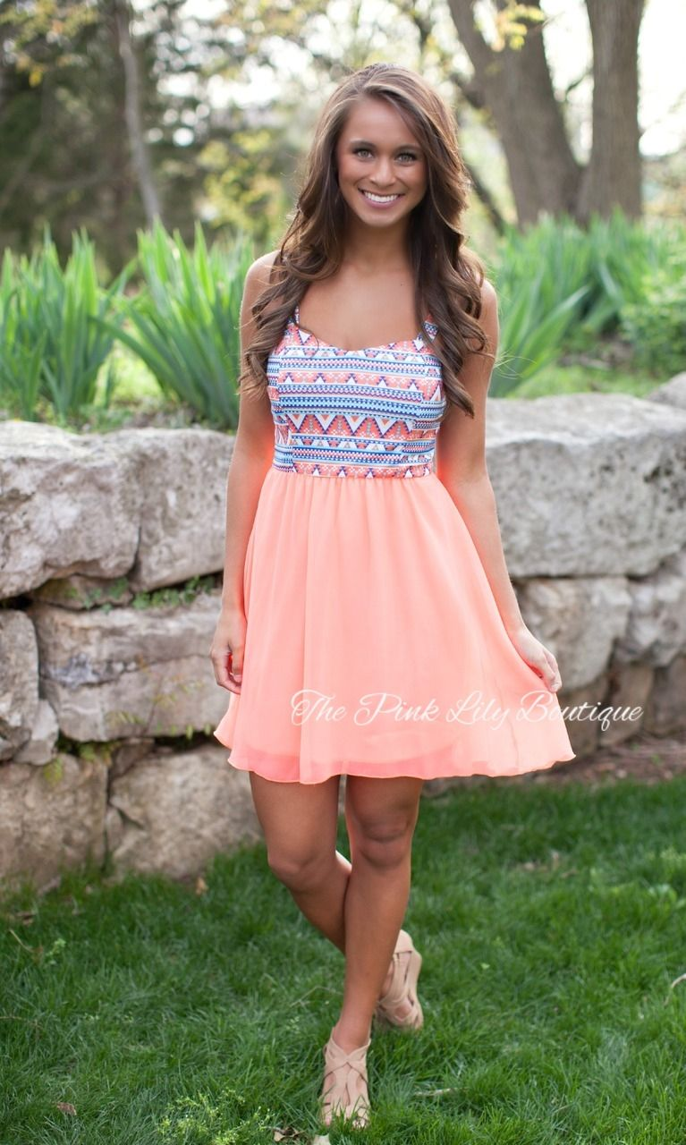 The Pink Lily Boutique - A Neon Dream Aztec Dress, $39.00 (http ...