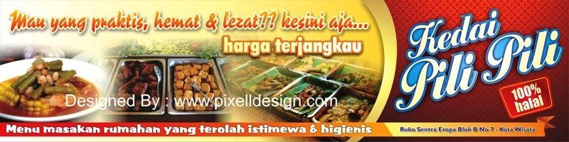 Contoh Banner Spanduk Rumah Makan / Restaurant Cafe Kedai ...