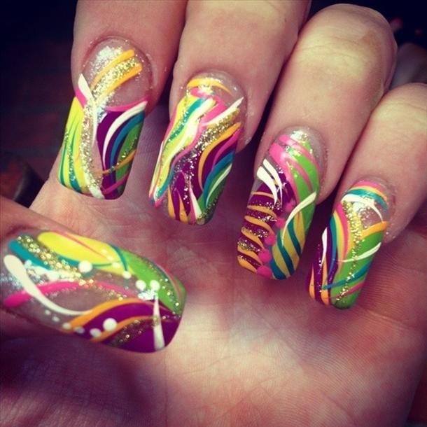 Colorful nail designs nail designs pinterest colorful nails colorful nail designs prinsesfo Choice Image