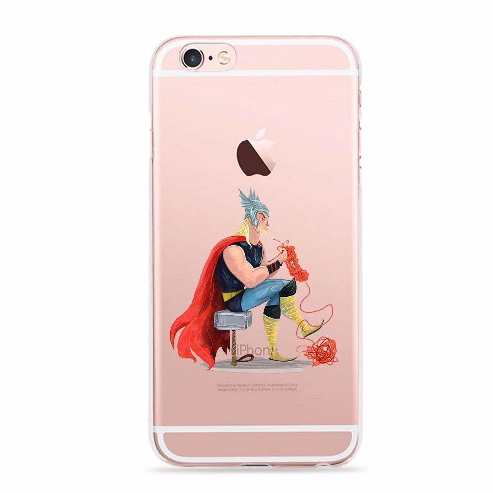 Marvel Comics Avenger Super Hero THOR Phone Case for iPhone 5 5s 6 6s SE ic24