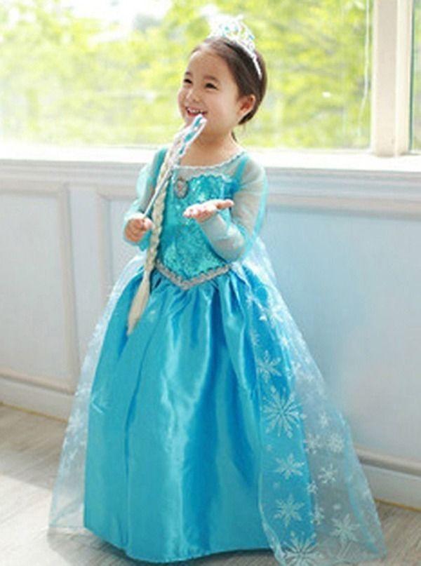 Hot Girls Dresses Child Costumes Frozen Queen Elsa Fancy Summer Dress u0026 Crown #other #Dress  sc 1 st  Pinterest & Hot Girls Dresses Child Costumes Frozen Queen Elsa Fancy Summer ...