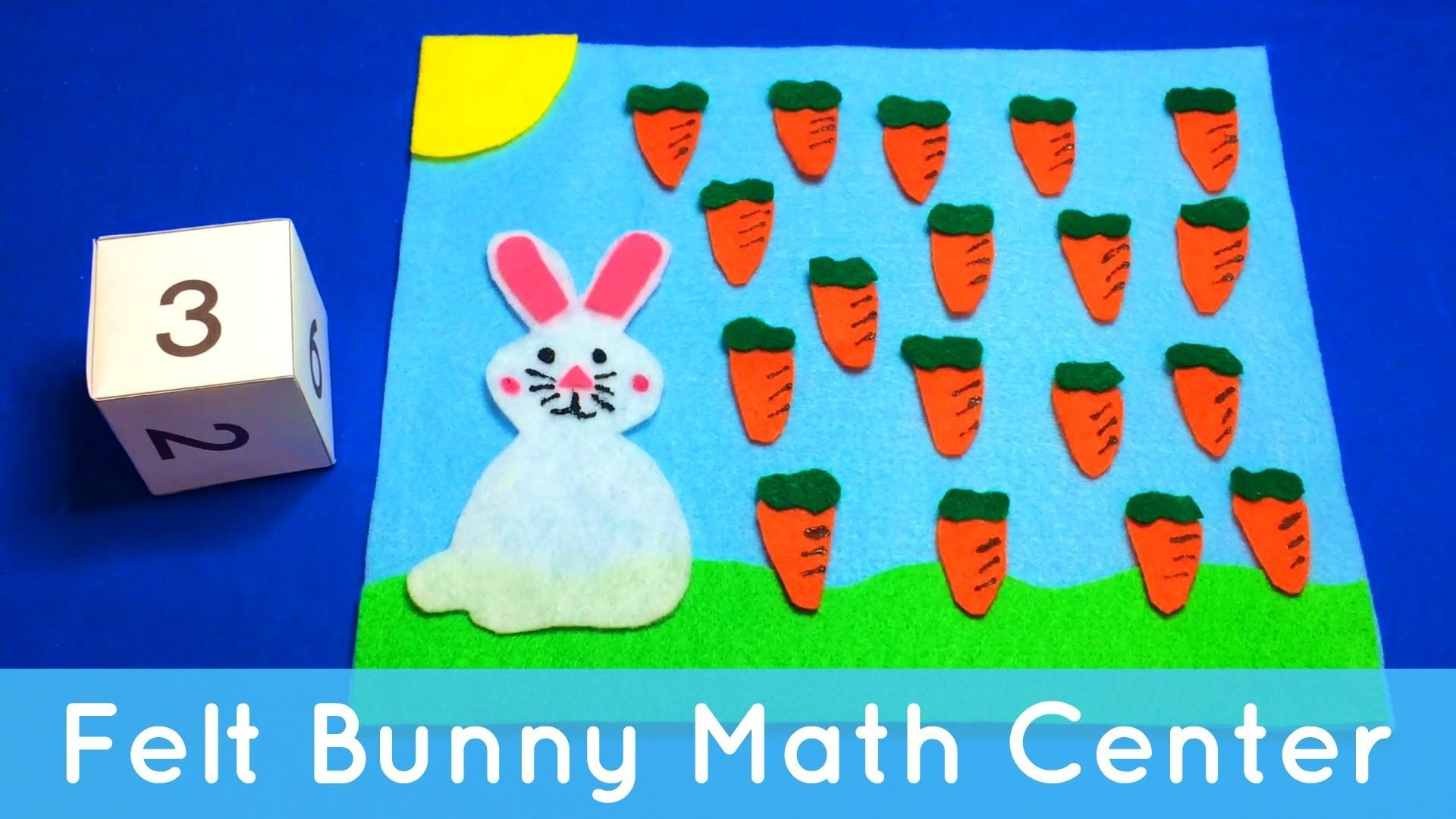 This is a felt preschool math activity. For more preschool learning ...