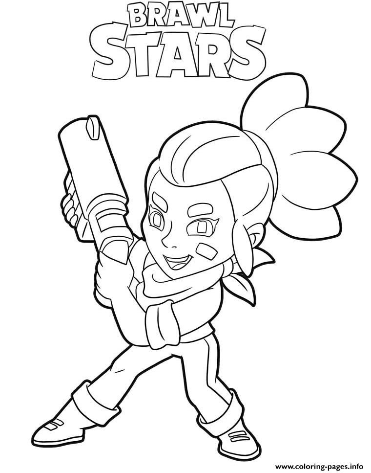 Print Shelly Brawl Stars Character Coloring Pages En 2020