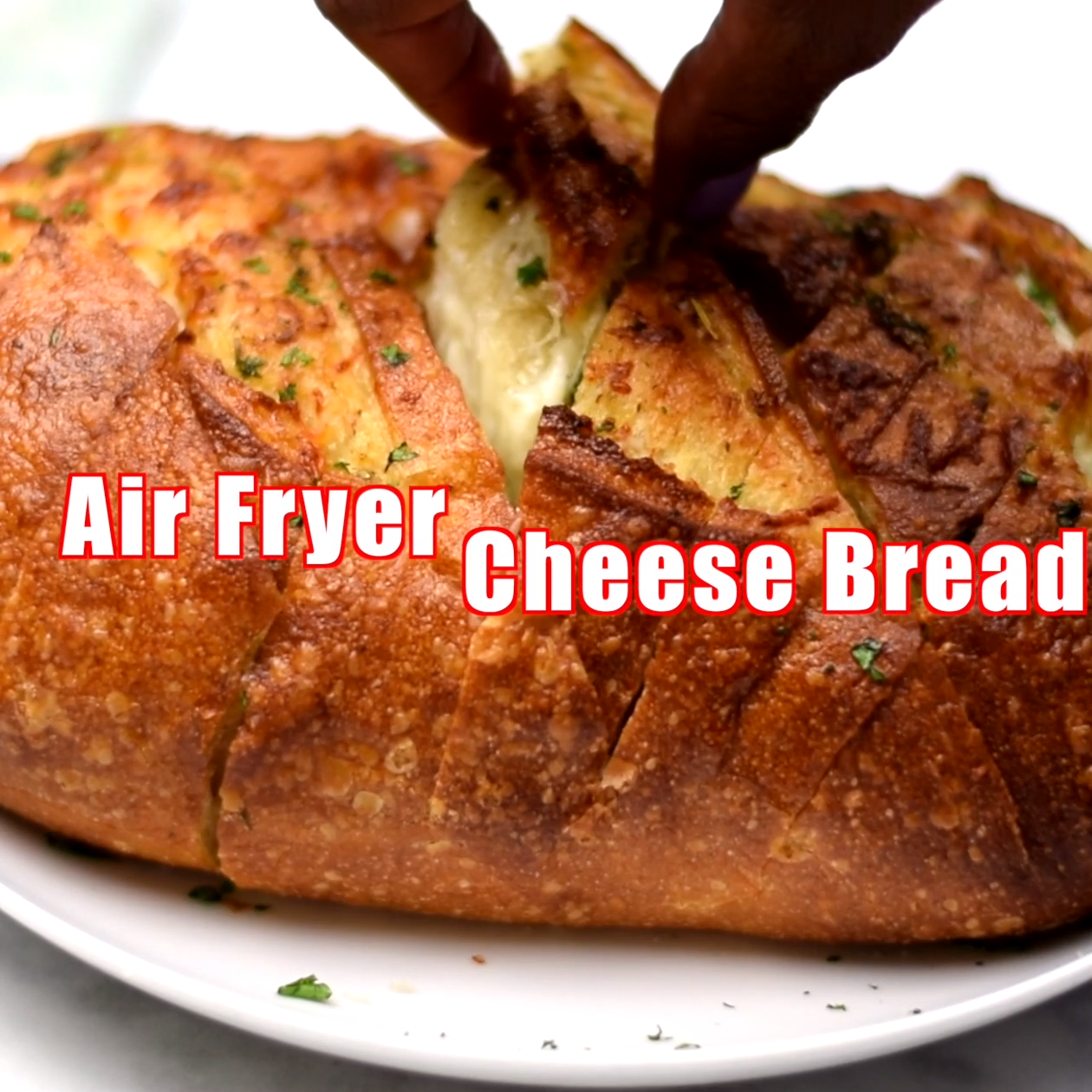 Air Fryer Pull Apart Cheese Garlic Bread is a quick and