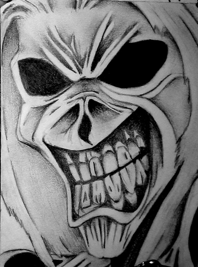 Iron Maiden Iron Maiden Tattoo Iron Maiden Eddie Skulls Drawing