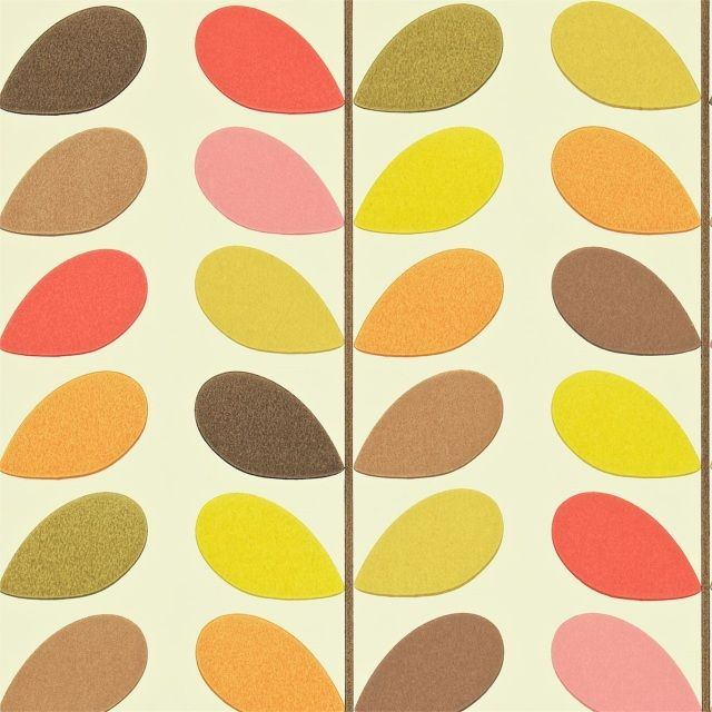 by Orla Kielythis famous design by Orla Kiely, adds a funky retro vibe to your decorative scheme, making Multi Stem a firm favourite with designers & homeownersclick here if you wish to order samplesnon woven - easy paste the wallstraight matchpattern repeat - 21 inroll 20.5 in wide, 33 ft longcoverage 56 sq. ft.