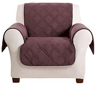 Prime Sure Fit Chair Triple Protection Furniture Cover Qvc Com Pdpeps Interior Chair Design Pdpepsorg