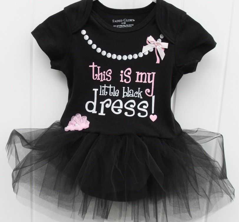 fce400264abc My little black dress bodysuit with black tulle tutu | For The Kids ...