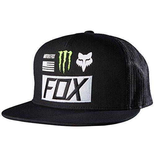 Mens Snapback Trucker Hat featuring Monster logos and fox signature racing  logos. Mesh Back Panels The post Fox Mens Monster Union Trucker Snapback Hat  ... 8b8613a3dbb7