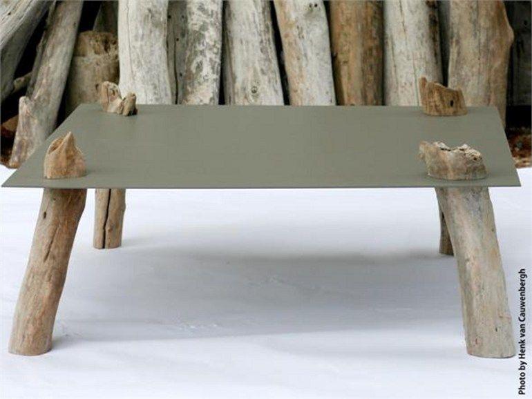 Mesinha baixa quadrada de madeira TABLE BASSE SQUARE Coleção Baptized by Nature by Concepts by Catherine | design Cathérine Op De Beeck