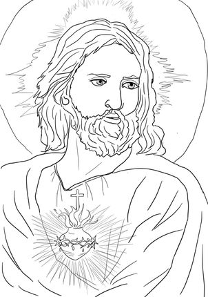 Sacred Heart of Jesus | Catholic Kids Coloring Pages | Pinterest ...