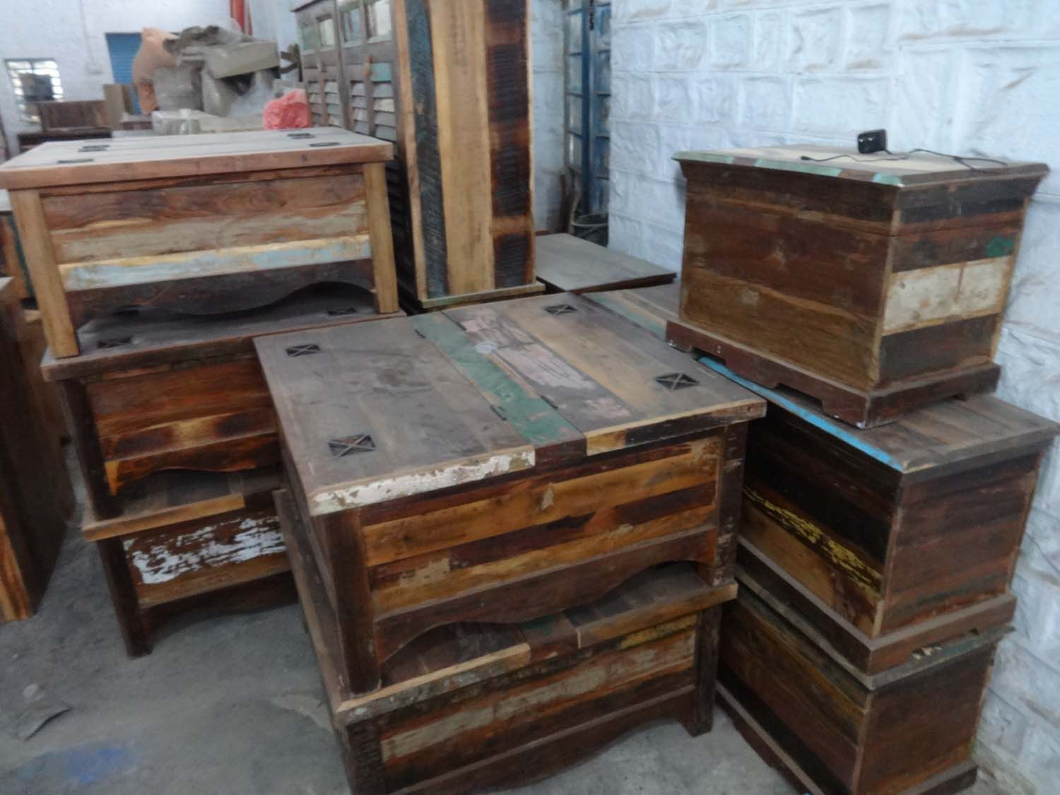 Recycled wood furniture factory jodhpur