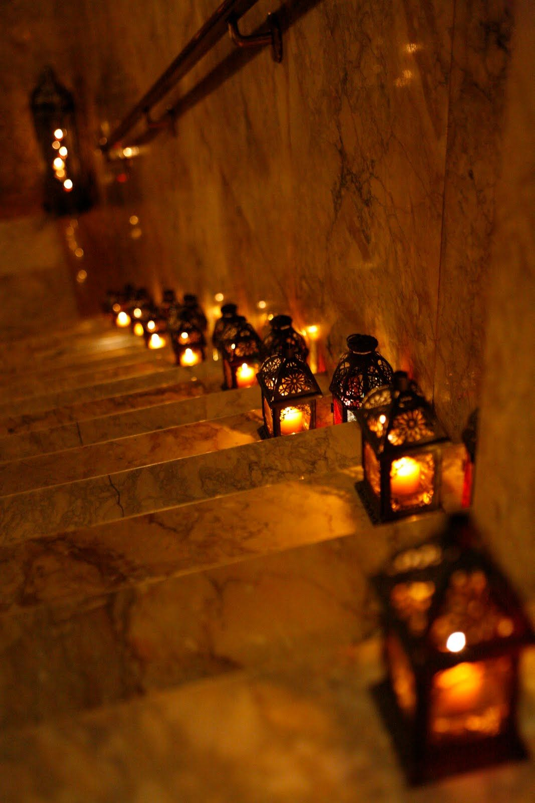 Moroccan lighting- perhaps to light a pathway in the garden? or the ...