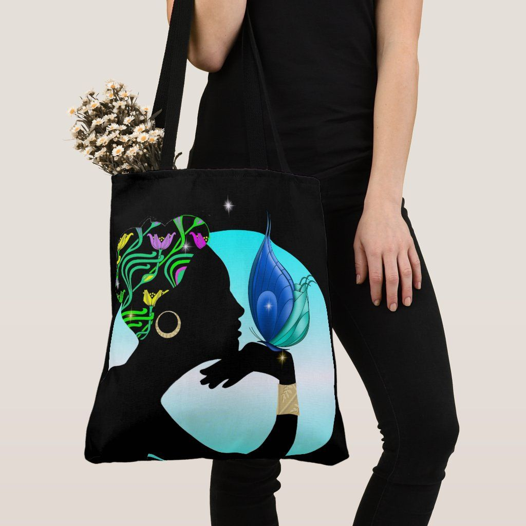Beautiful Ethnic Woman All Over Print Tote