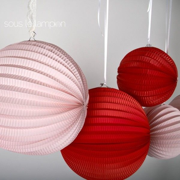 Boule origami Sous le lampion